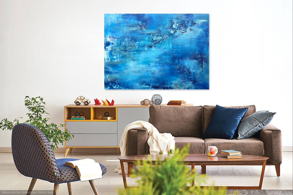 Blue Flux by Amanda Stavast | ArtworkNetwork.com