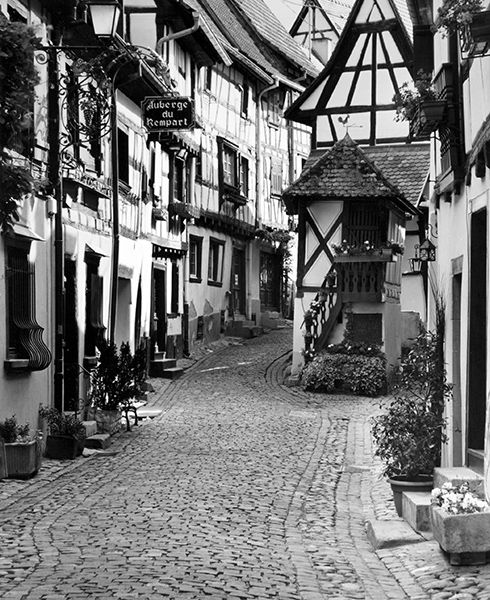 Street in Eguisheim (France) by Bruce Zander | ArtworkNetwork.com