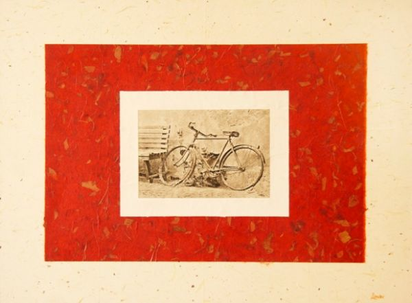 Bicycle (Intaglio-in-Collage) by Bruce Zander | ArtworkNetwork.com
