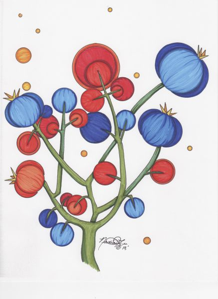 Strawberry Tree 2 by Nadia Lee | ArtworkNetwork.com