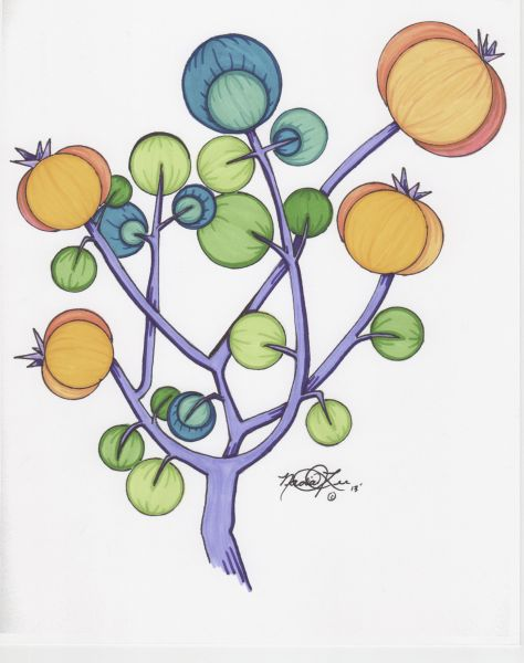 Strawberry Tree 3 by Nadia Lee | ArtworkNetwork.com