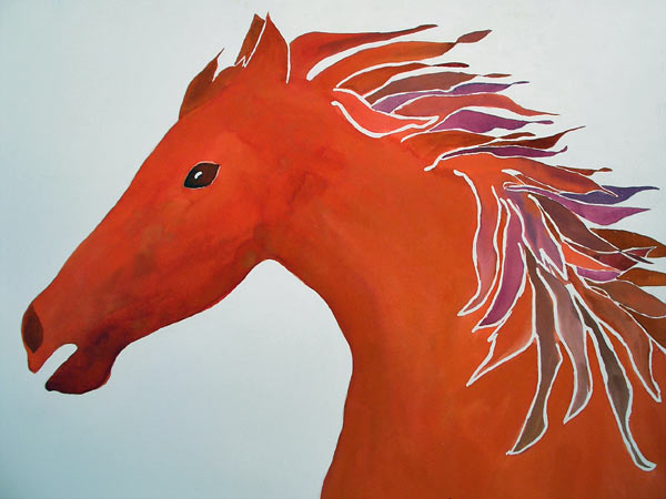 terracotta horse by Eva Behring | ArtworkNetwork.com