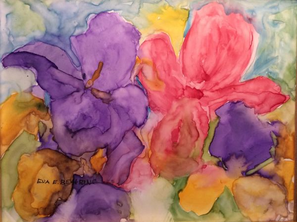 watercolor flowers by Eva Behring | ArtworkNetwork.com