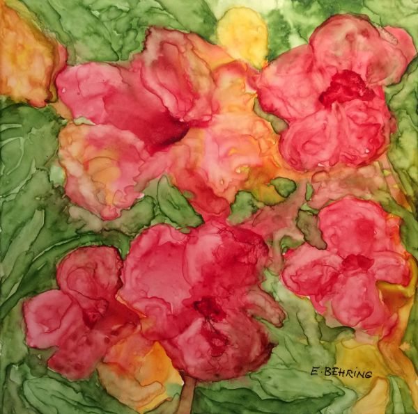 summer flowers by Eva Behring | ArtworkNetwork.com