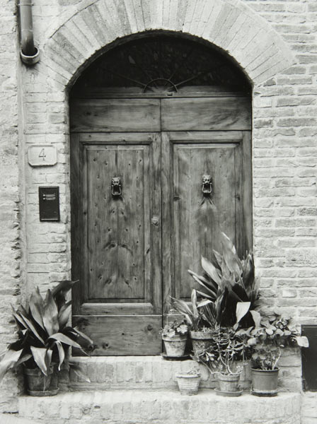 Doors at via San Stefano (San Gimignano Italy) by Bruce Zander | ArtworkNetwork.com