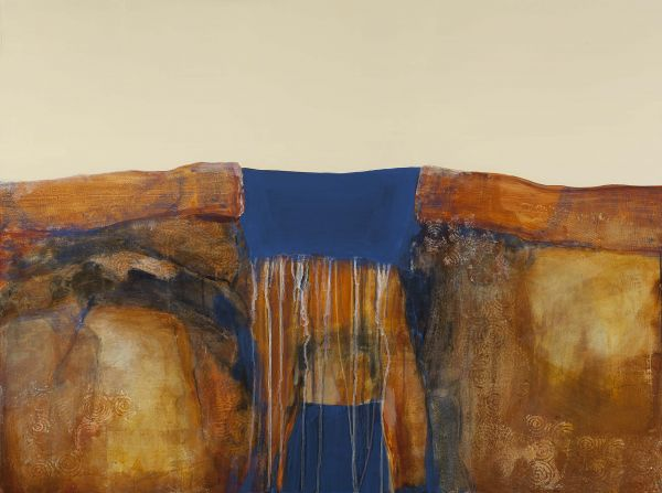 portal with blue I by Karen Poulson | ArtworkNetwork.com