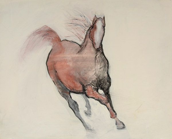 horse drawing II by Karen Poulson | ArtworkNetwork.com