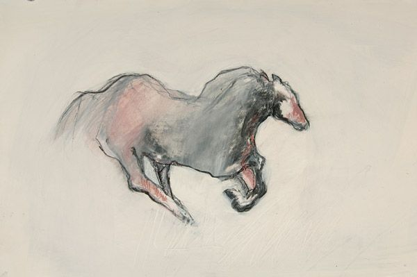 horse drawing III by Karen Poulson | ArtworkNetwork.com