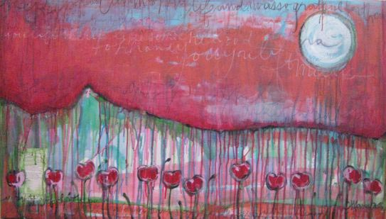 I was grateful the poppies came into my life by Laurie Maves | ArtworkNetwork.com