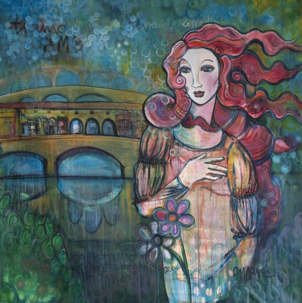 Venus and The Ponte Vecchio by Laurie Maves | ArtworkNetwork.com