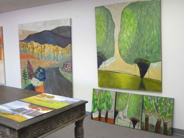 Two Big Trees by Sarah Van Beckum | ArtworkNetwork.com