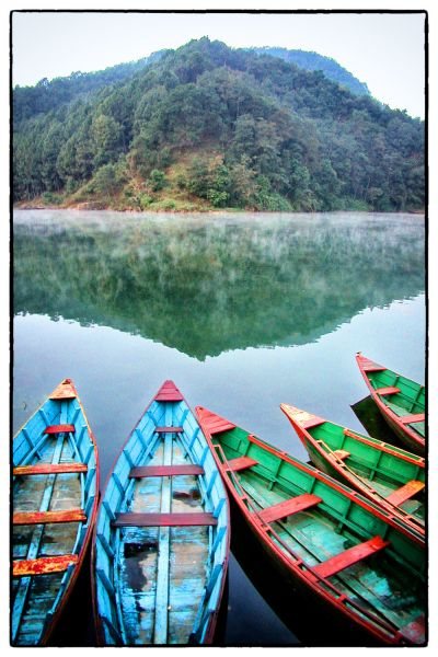 Moment of Silence (Lake Pokhara Nepal) by Scott Takeda | ArtworkNetwork.com