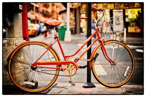 Red Bike (Manhattan New York) by Scott Takeda | ArtworkNetwork.com