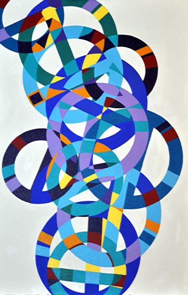 cycling circles by Phyllis Clark | ArtworkNetwork.com