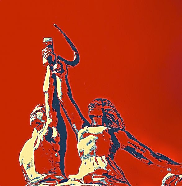 rise of the red worker II by Al Heuer | ArtworkNetwork.com