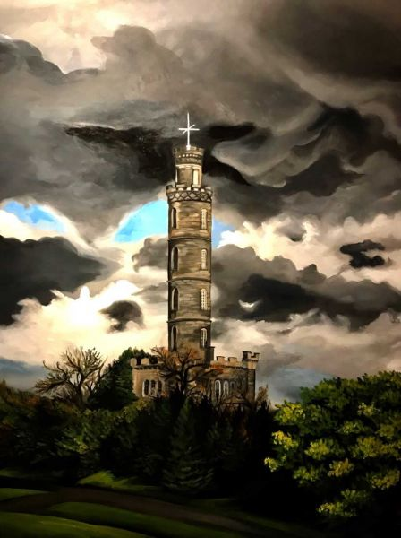 Calton Hill by Amanda Stavast | ArtworkNetwork.com
