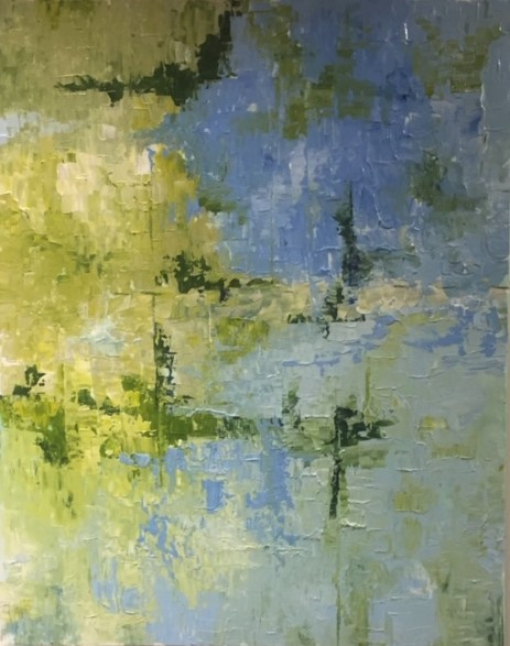Blue on Green by Patrick Irish | ArtworkNetwork.com
